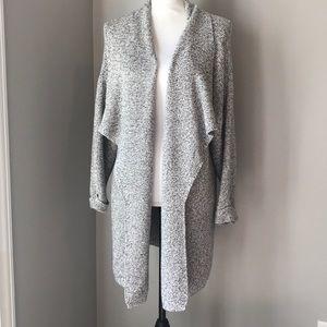 H&M basic open front cardigan sweater Sz Lg